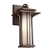Kichler Lighting Priya 1 Light Outdoor Wall Lantern in Aged Bronze 49375AGZ