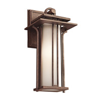 Kichler Lighting Priya 1 Light Outdoor Wall Lantern in Aged Bronze 49376AGZ photo thumbnail