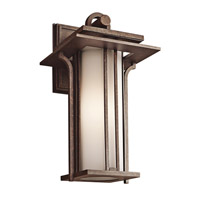 Kichler Lighting Priya 1 Light Outdoor Wall Lantern in Aged Bronze 49377AGZ