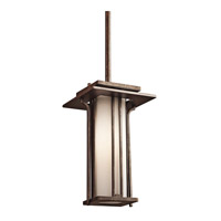 Kichler Lighting Priya 1 Light Outdoor Pendant in Aged Bronze 49378AGZ