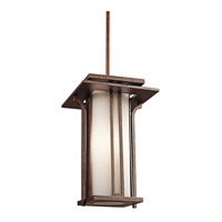 Kichler Lighting Priya 1 Light Outdoor Pendant in Aged Bronze 49379AGZ