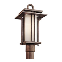 Kichler Lighting Priya 1 Light Outdoor Post Lantern in Aged Bronze 49380AGZ