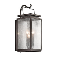 Kichler Manningham 3 Light Outdoor Wall - Medium in Olde Bronze 49386OZ photo thumbnail