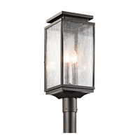 Kichler 49388OZ Manningham 3 Light 21 inch Olde Bronze Outdoor Post Lantern