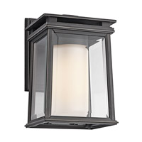 Kichler Lighting Lindstrom 1 Light Outdoor Wall Lantern in Rubbed Bronze 49400RZ