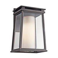 Kichler Lighting Lindstrom 1 Light Outdoor Wall Lantern in Rubbed Bronze 49401RZ