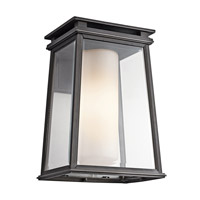 Kichler Lighting Lindstrom 1 Light Outdoor Wall Lantern in Rubbed Bronze 49402RZ
