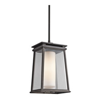 Kichler Lighting Lindstrom 1 Light Outdoor Pendant in Rubbed Bronze 49403RZ photo thumbnail