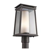 Kichler Lighting Lindstrom 1 Light Post Lantern in Rubbed Bronze 49404RZ photo thumbnail