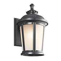 Kichler Lighting Ralston 1 Light Outdoor Wall Lantern in Black (Painted) 49411BK