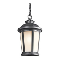 Kichler Lighting Ralston 1 Light Outdoor Pendant in Black 49412BK