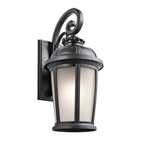 Kichler Lighting Builder Ralston 1 Light Outdoor Wall Lantern in Black (Painted) 49414BK