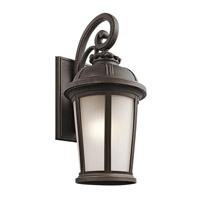 Kichler 49414RZ Ralston 1 Light 25 inch Rubbed Bronze Outdoor Wall Lantern
