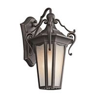 Kichler Lighting Nob Hill 1 Light Outdoor Wall Lantern in Rubbed Bronze 49416RZ