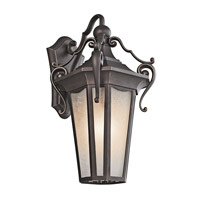 Kichler Lighting Nob Hill 1 Light Outdoor Wall Lantern in Rubbed Bronze 49417RZ photo thumbnail