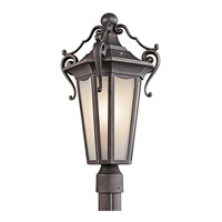 Kichler Lighting Nob Hill 1 Light Outdoor Post Lantern in Rubbed Bronze 49418RZ photo thumbnail