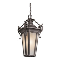 Kichler Lighting Nob Hill 1 Light Outdoor Pendant in Rubbed Bronze 49419RZ photo thumbnail