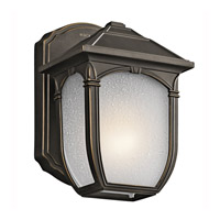 Kichler Lighting Builder Lakeway 1 Light Outdoor Wall Lantern in Olde Bronze 49428RZ