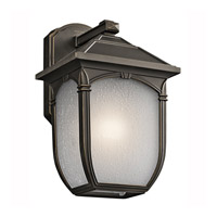 Kichler Lighting Builder Lakeway 1 Light Outdoor Wall Lantern in Olde Bronze 49429RZ