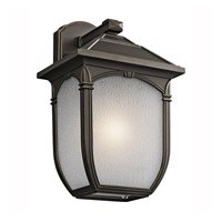 Kichler Lighting Builder Lakeway 1 Light Outdoor Wall Lantern in Olde Bronze 49430RZ photo thumbnail