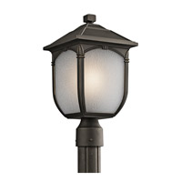 Kichler Lighting Builder Lakeway 1 Light Outdoor Post Lantern in Rubbed Bronze 49431RZ photo thumbnail