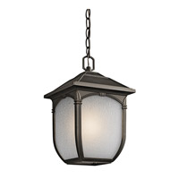 Kichler Lighting Builder Lakeway 1 Light Outdoor Pendant in Olde Bronze 49432RZ