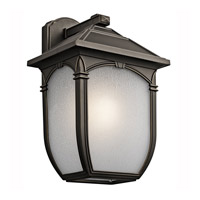 Kichler Lighting Builder Lakeway 1 Light Outdoor Wall Lantern in Olde Bronze 49433RZ photo thumbnail