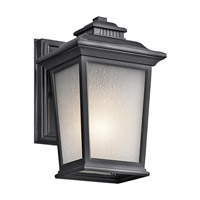 Kichler Lighting Builder Weatherly 1 Light Outdoor Wall Lantern in Black (Painted) 49438BK