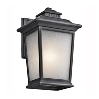 Kichler Lighting Builder Weatherly 1 Light Outdoor Wall Lantern in Black (Painted) 49439BK