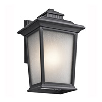Kichler Lighting Builder Weatherly 1 Light Outdoor Wall Lantern in Black (Painted) 49440BK