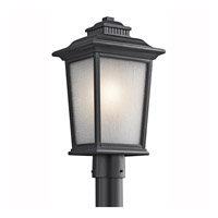 Kichler Lighting Builder Weatherly 1 Light Outdoor Post Lantern in Black 49442BK photo thumbnail