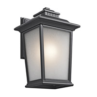 Kichler Lighting Builder Weatherly 1 Light Outdoor Wall Lantern in Black (Painted) 49443BK