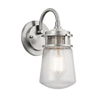 Kichler 49444BA Lyndon 1 Light 11 inch Brushed Aluminum Outdoor Wall Lantern
