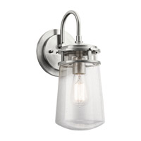 Kichler 49445BA Lyndon 1 Light 15 inch Brushed Aluminum Outdoor Wall Lantern