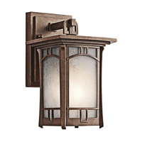 Kichler Lighting Soria 1 Light Outdoor Wall Lantern in Aged Bronze 49449AGZ