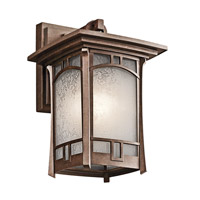 Kichler 49450AGZ Soria 1 Light 12 inch Aged Bronze Outdoor Wall Lantern photo thumbnail