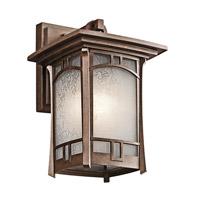 Kichler 49450AGZ Soria 1 Light 12 inch Aged Bronze Outdoor Wall Lantern