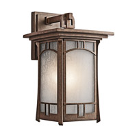 Kichler Lighting Soria 1 Light Outdoor Wall Lantern in Aged Bronze 49451AGZ