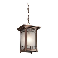 Kichler Lighting Soria 1 Light Outdoor Pendant in Aged Bronze 49452AGZ photo thumbnail