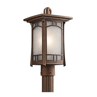 Soria 1 Light 16 inch Aged Bronze Outdoor Post Lantern