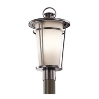 Kichler Belmez 1 Light Outdoor Post Lantern in Architectural Bronze 49459AZ