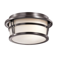 Kichler Belmez 2 Light Outdoor Flush & Semi Flush Mt in Architectural Bronze 49460AZ