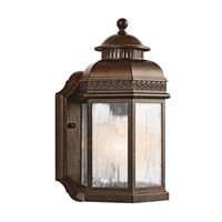 Kichler Lighting Tolland 1 Light Outdoor Wall Lantern in Brushed Bronze 49461BRZ