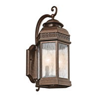 Kichler Lighting Tolland 2 Light Outdoor Wall Lantern in Brushed Bronze 49462BRZ photo thumbnail