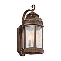 Kichler Lighting Tolland 3 Light Outdoor Wall Lantern in Brushed Bronze 49463BRZ photo thumbnail