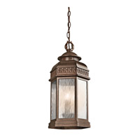 Kichler Lighting Tolland 3 Light Outdoor Pendant in Brushed Bronze 49465BRZ