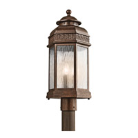 Kichler Lighting Tolland 3 Light Outdoor Post Lantern in Brushed Bronze 49466BRZ photo thumbnail