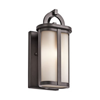 Kichler Rivera 1 Light Outdoor Wall - Small in Architectural Bronze 49467AZ