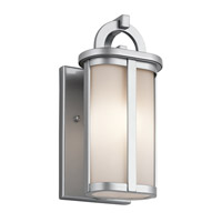 Kichler Rivera 1 Light Outdoor Wall - Small in Platinum 49467PL