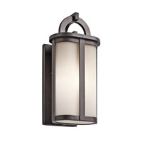Kichler Rivera 1 Light Outdoor Wall - Small in Architectural Bronze 49468AZ